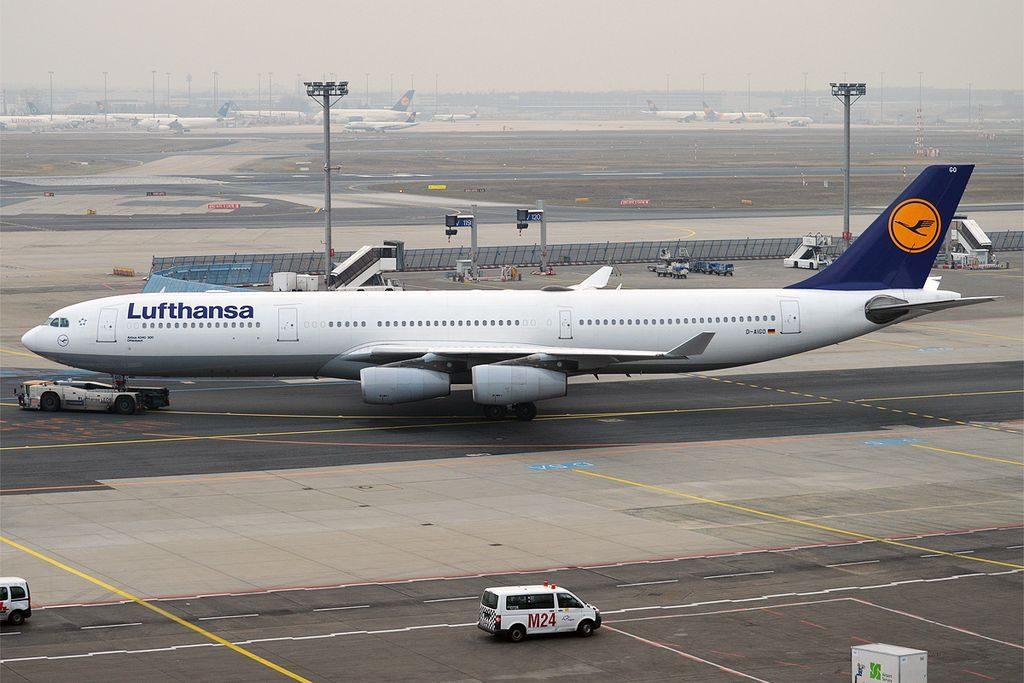 D AIGO Airbus A340 300 of Lufthansa Offenbach at Frankfurt Airport