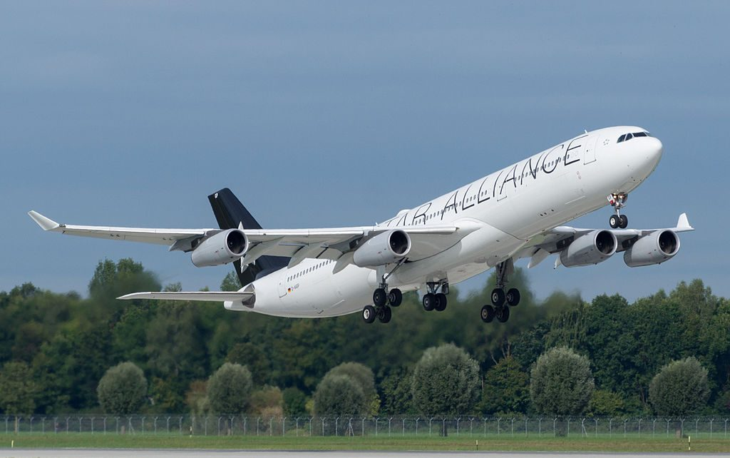 D AIGP Airbus A340 300 of Lufthansa in Star Alliance livery at Frankfurt Airport