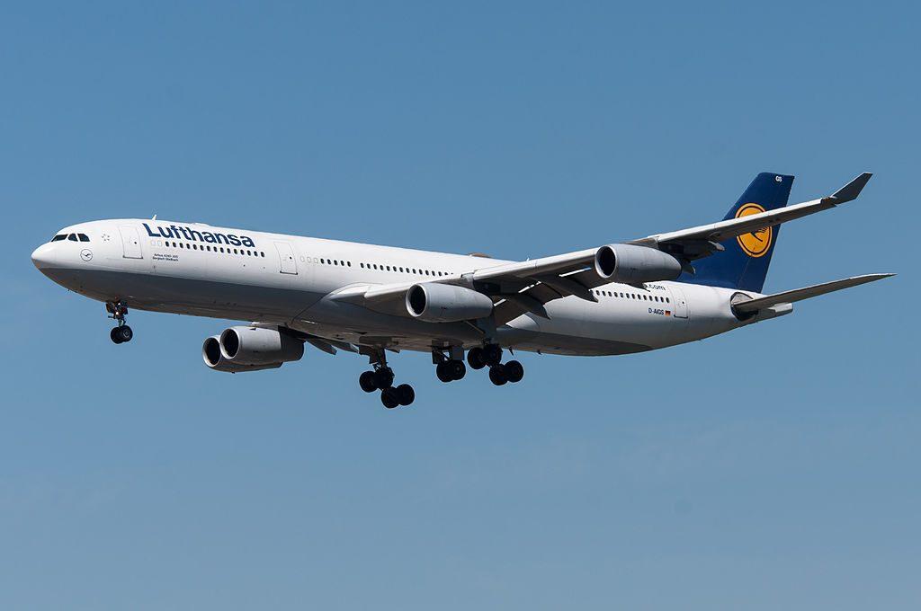 D AIGS Airbus A340 300 of Lufthansa Bergisch Gladbach at Frankfurt Airport