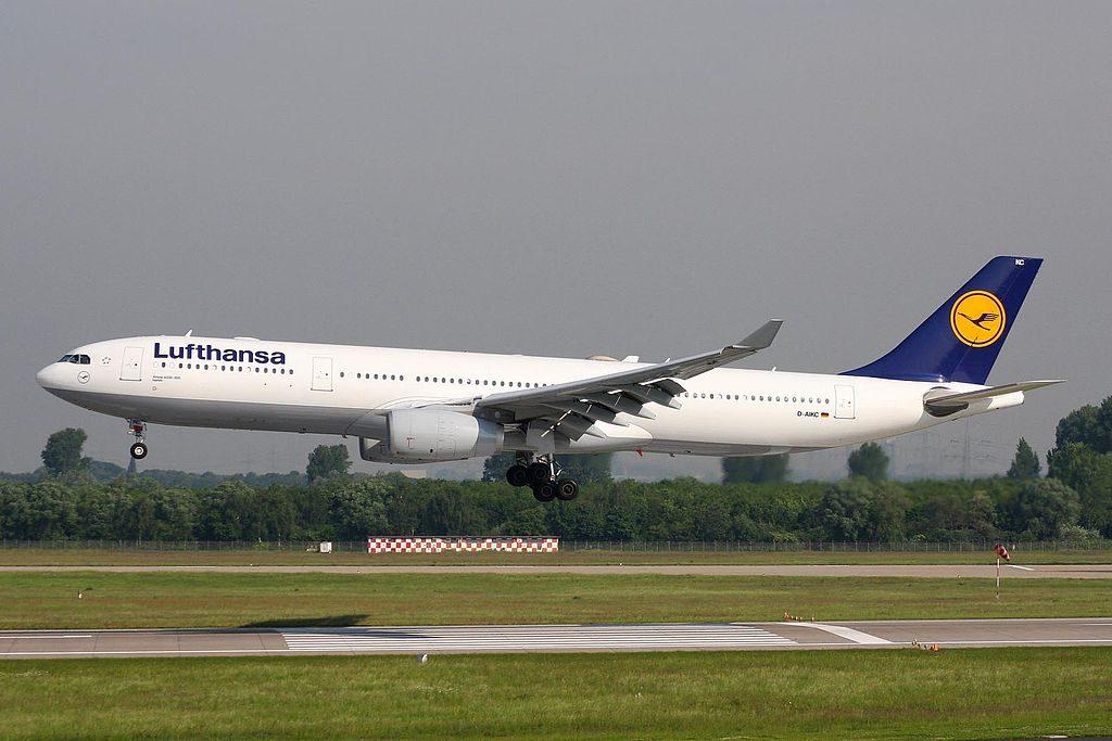 D AIKC Airbus A330 343X Lufthansa Hamm at Düsseldorf Airport DUS
