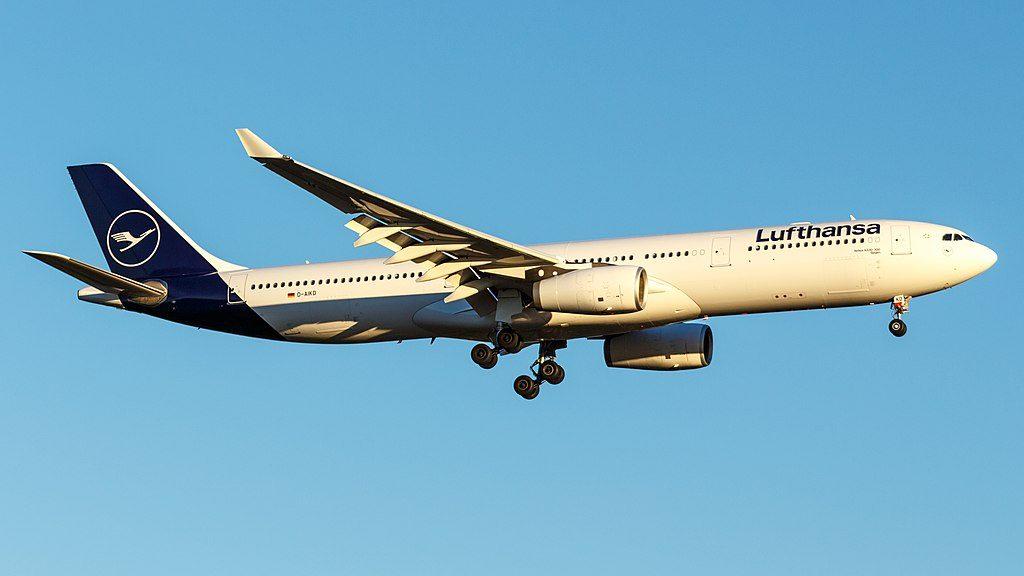 D AIKD Airbus A330 300 Siegen of Lufthansa at Frankfurt Airport