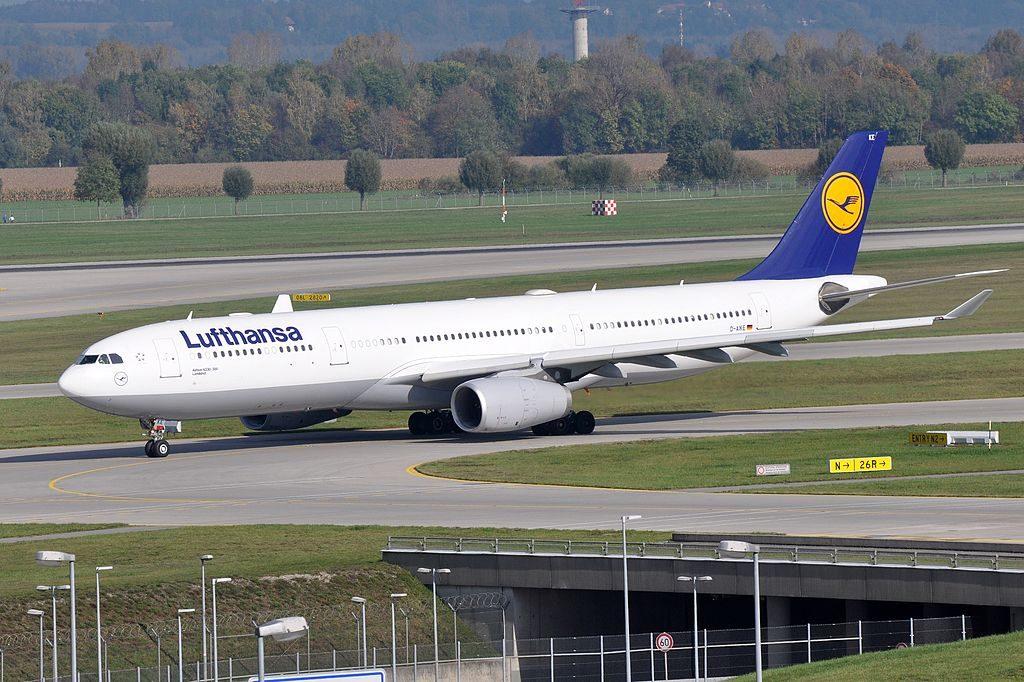 D AIKE Airbus A330 300 Landshut of Lufthansa at Munich Airport