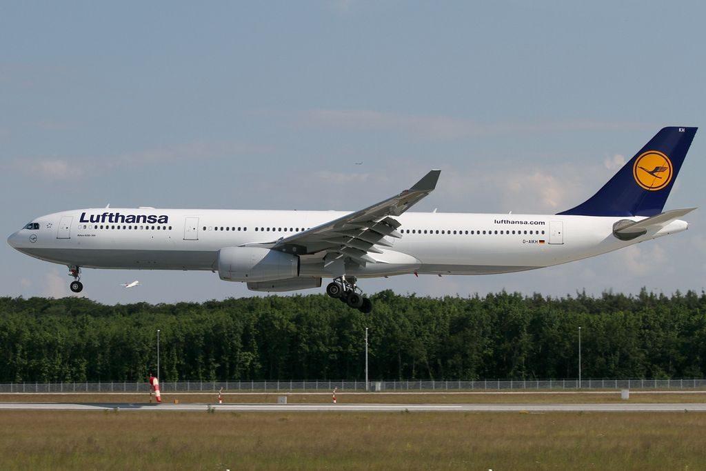 D AIKH Airbus A330 343X Lufthansa at Frankfurt Airport