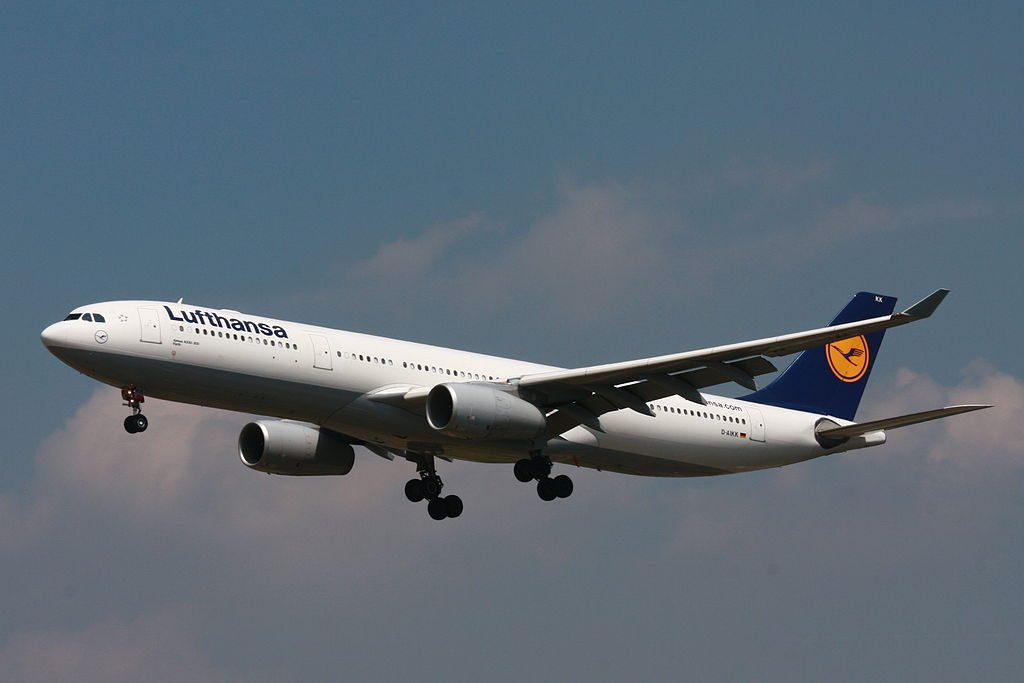 D AIKK Airbus A330 300 Fürth of Lufthansa at Frankfurt Airport