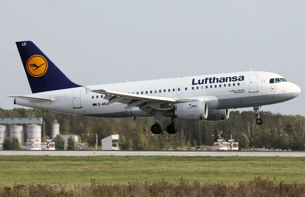 D AILC Airbus A319 100 Rüsselsheim of Lufthansa at Domodedovo International Airport