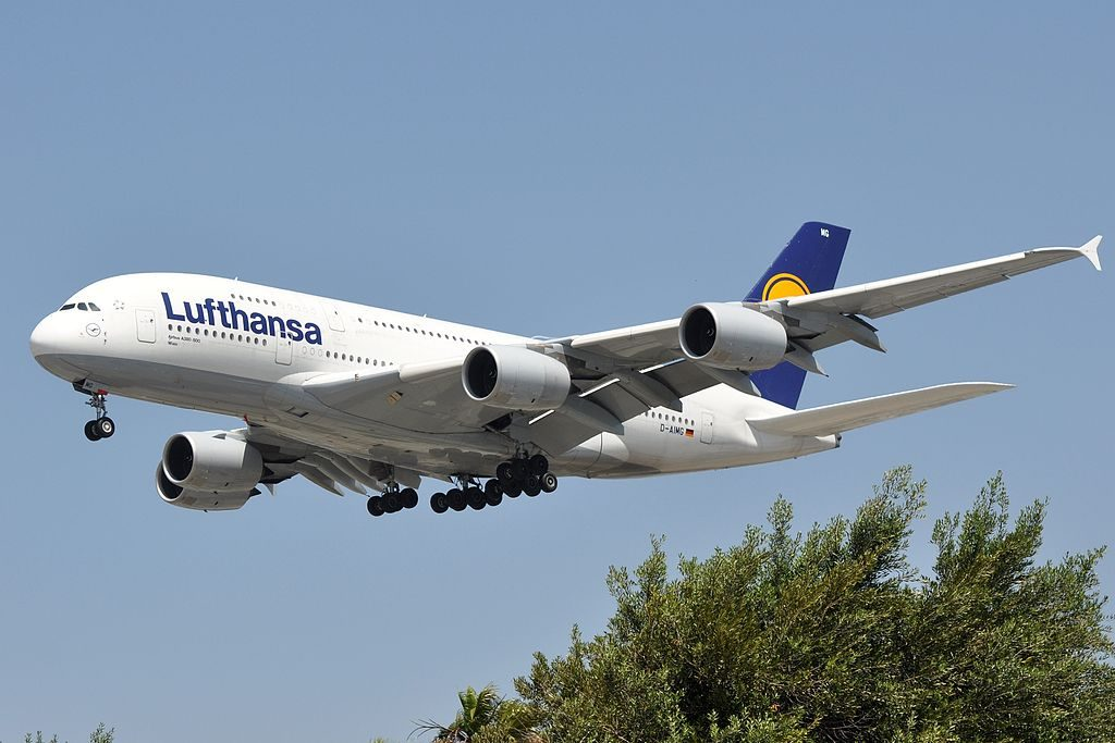 D AIMG Airbus A380 841 Wien of Lufthansa at Los Angeles International Airport