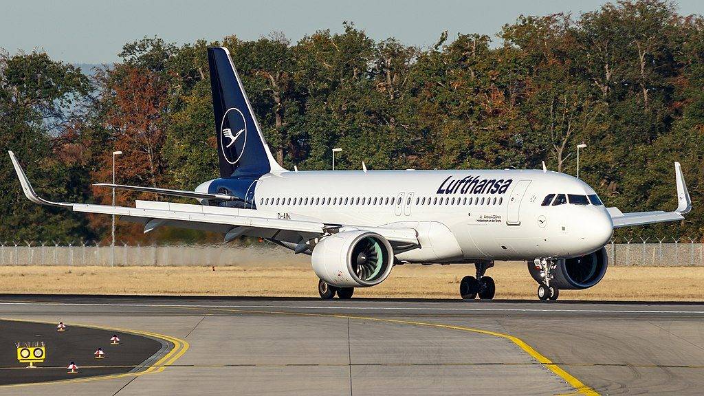 D AINK Lufthansa Airbus A320neo on New Livery