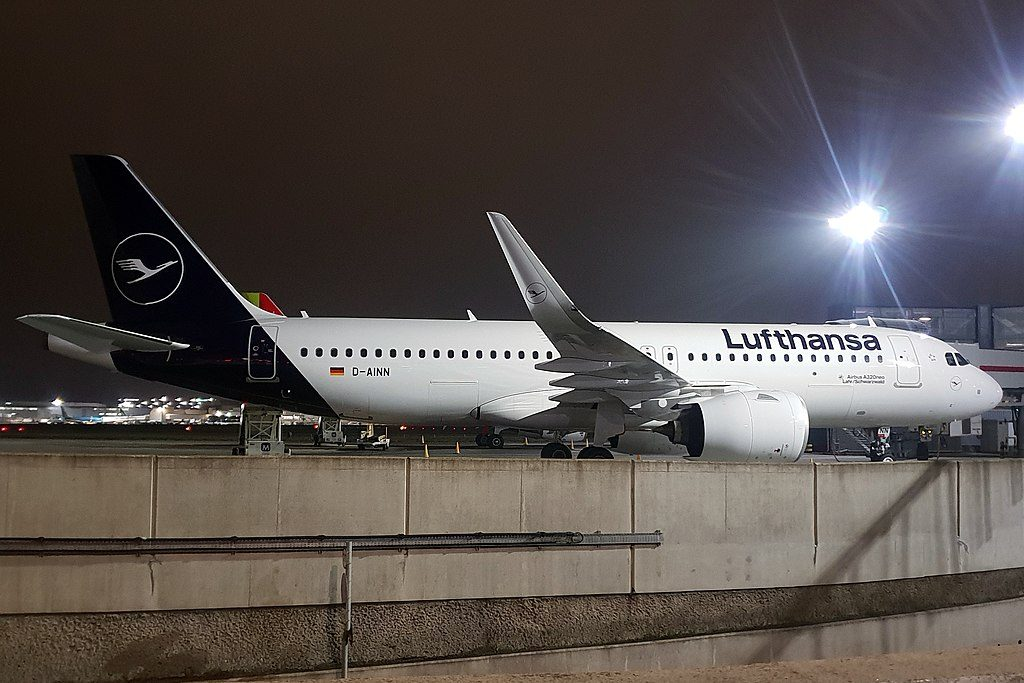 D AINN Airbus A320neo Lahr Schwarzwald of Lufthansa at London Heathrow Airport