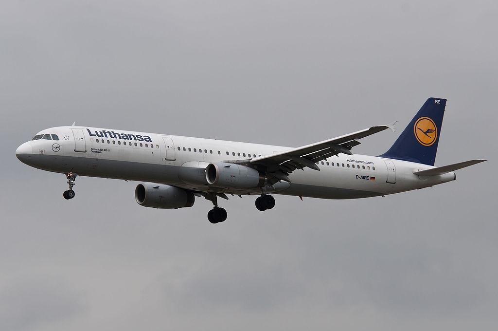 D AIRE Airbus A321 100 Osnabrück of Lufthansa at Frankfurt Airport