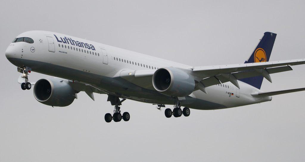 D AIXC Airbus A350 941 Lufthansa Saarbrücken at Toulouse Blagnac Airport