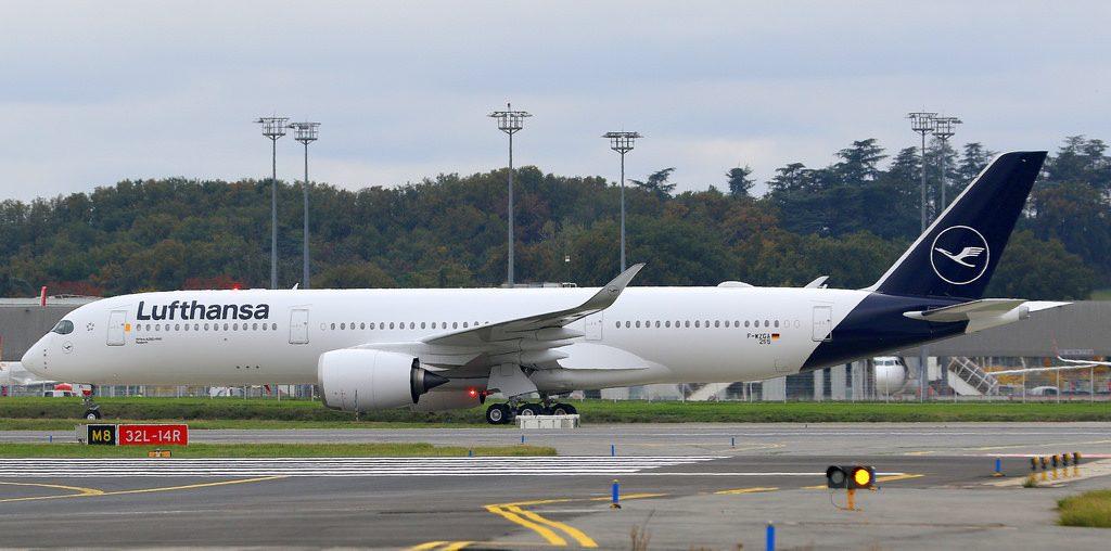 D AIXL Airbus A350 941 Lufthansa Rostock at Toulouse Blagnac Airport
