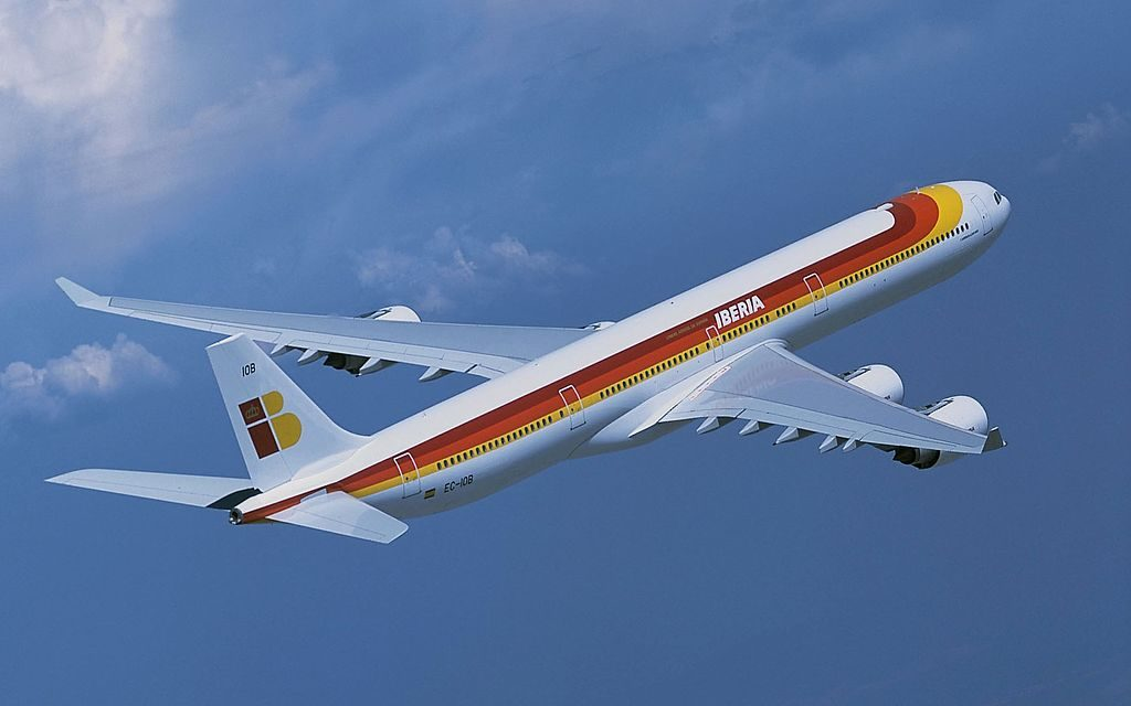 EC IOB Iberia Airbus A340 600 Julio Romero de Torres in flight photos