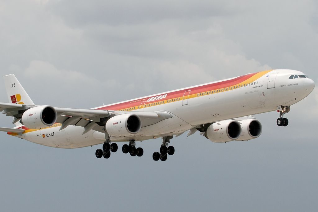 EC JCZ Airbus A340 642 Vicente Aleixandre Iberia at Miami International Airport