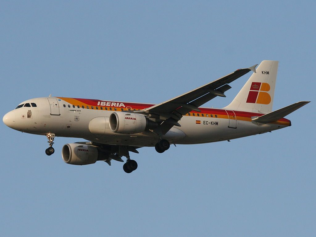 EC KHM Airbus A319 100 Buho Real of Iberia at Ben Gurion International Airport