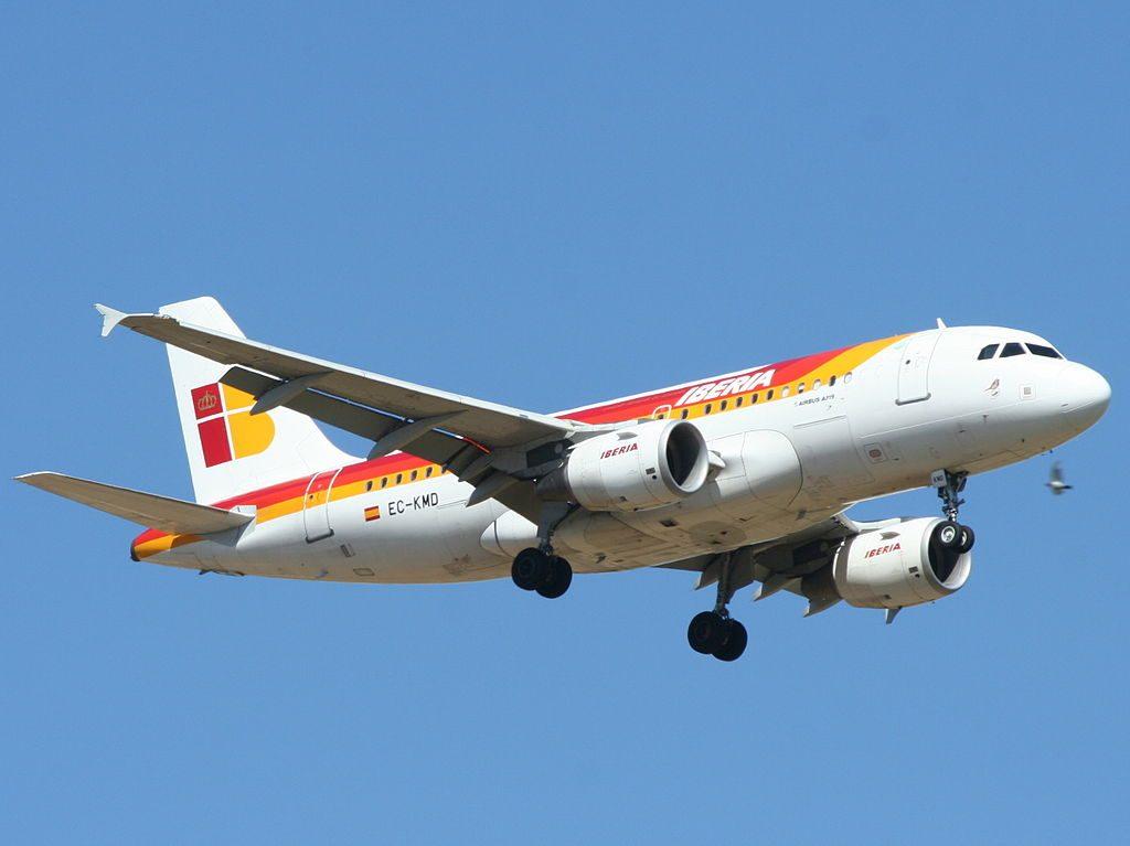 EC KMD Airbus A319 100 Petirrojo of Iberia at Ben Gurion International Airport