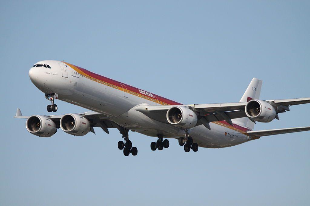 EC LFS Airbus A340 600 Ciudad de México Iberia at London Heathrow Airport