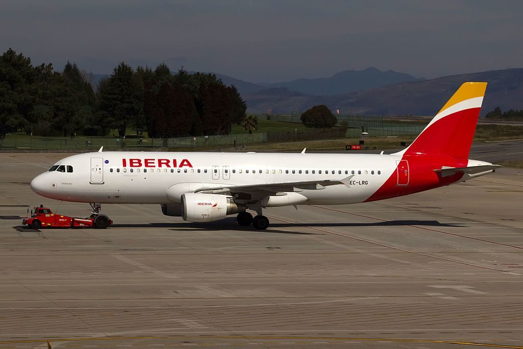 EC LRG Airbus A320 200 Cadaques of Iberia at Vigo Airport