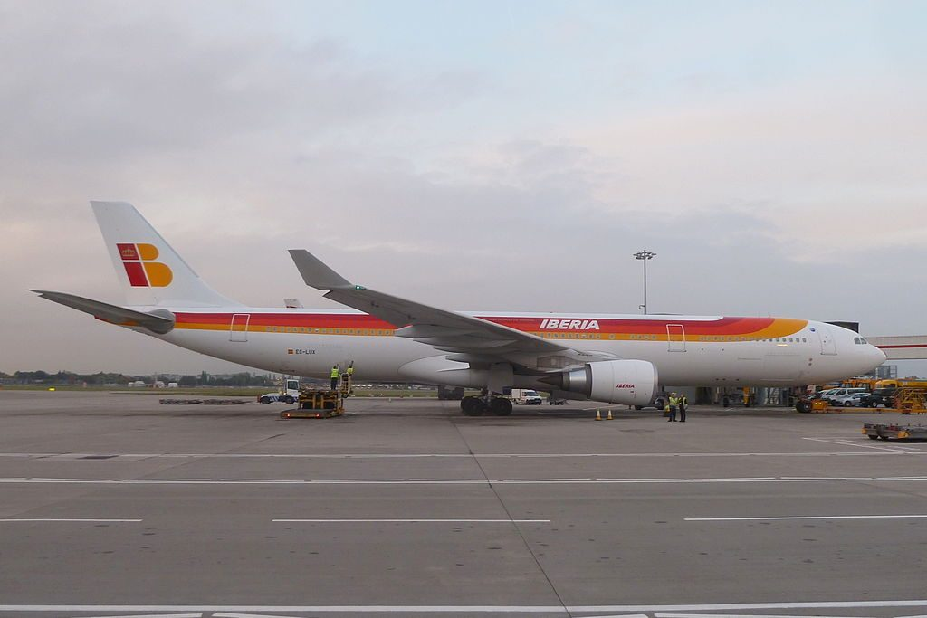 EC LUX Airbus A330 300 Panamá of Iberia at London Heathrow Airport