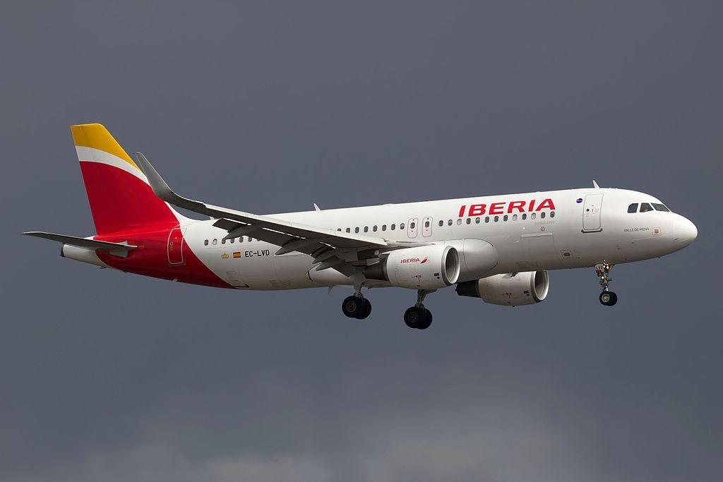 EC LVD Airbus A320 216wl Valle de Mena of Iberia at Stockholm Arlanda Airport
