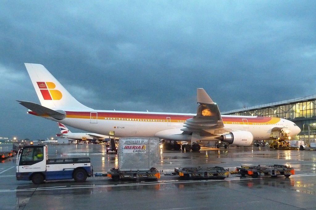 EC LXK Airbus A330 300 El Salvador of Iberia at London Heathrow Airport