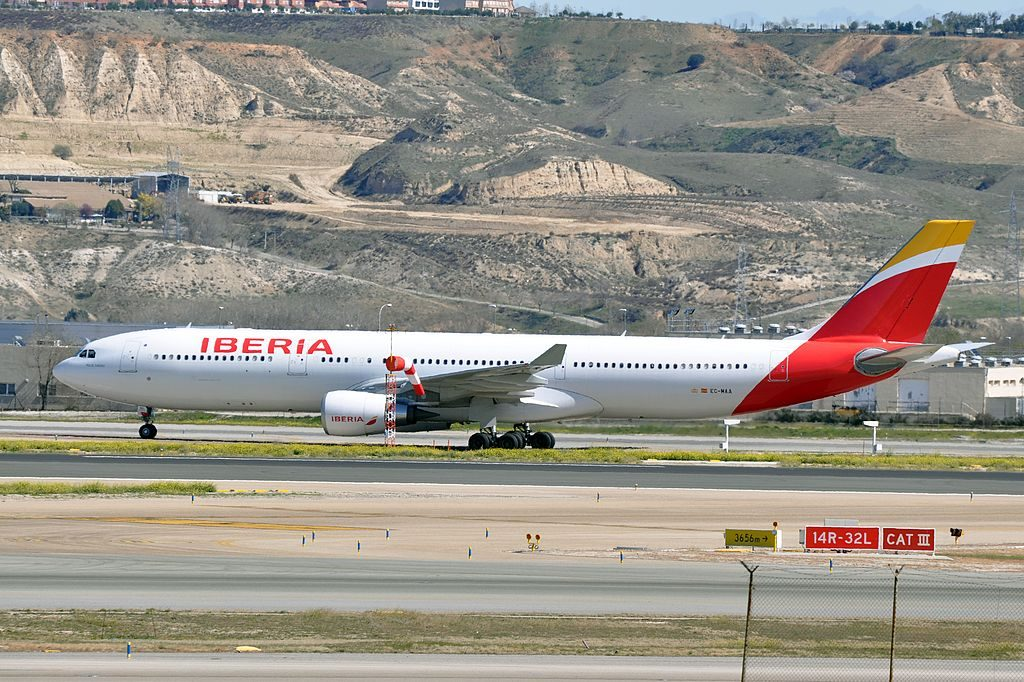 EC MAA Rio de Janeiro Airbus A330 300 of Iberia at Madrid Barajas Airport
