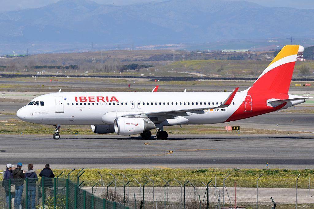 EC MDK Airbus A320 214wl P.N. Picos de Europa of Iberia at Madrid Barajas Airport