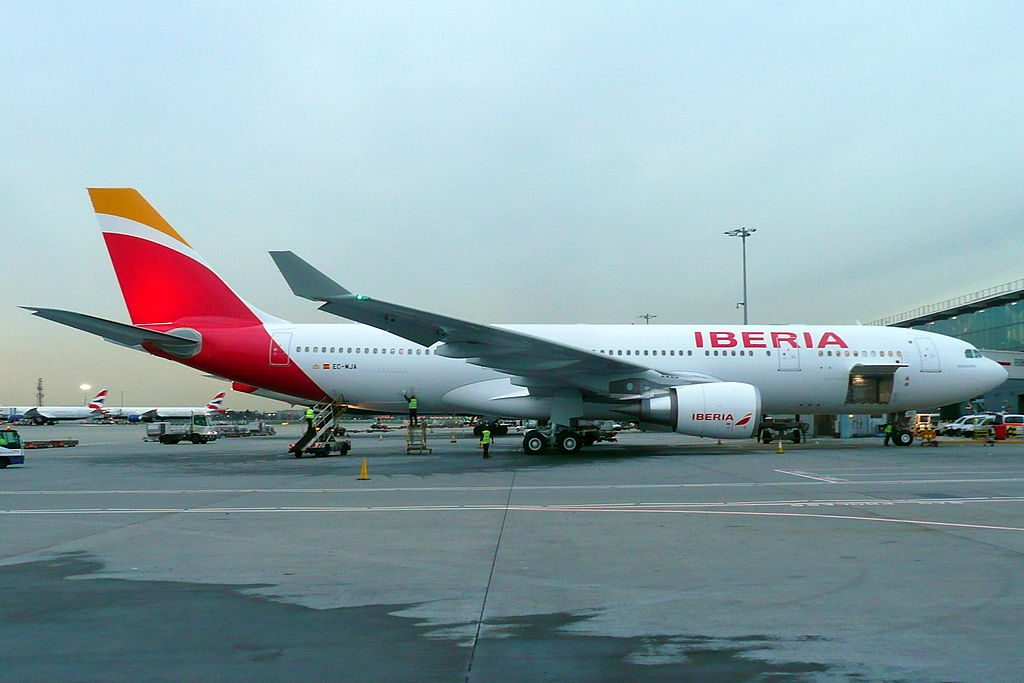 EC MJA Airbus A330 202 Buenos Aires Iberia at London Heathrow Airport