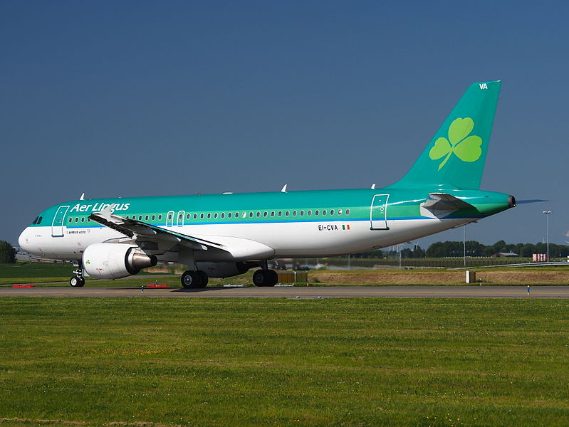 EI CVA Airbus A320 of Air Lingus St Schira Scire taxiing at Schiphol AMS EHAM