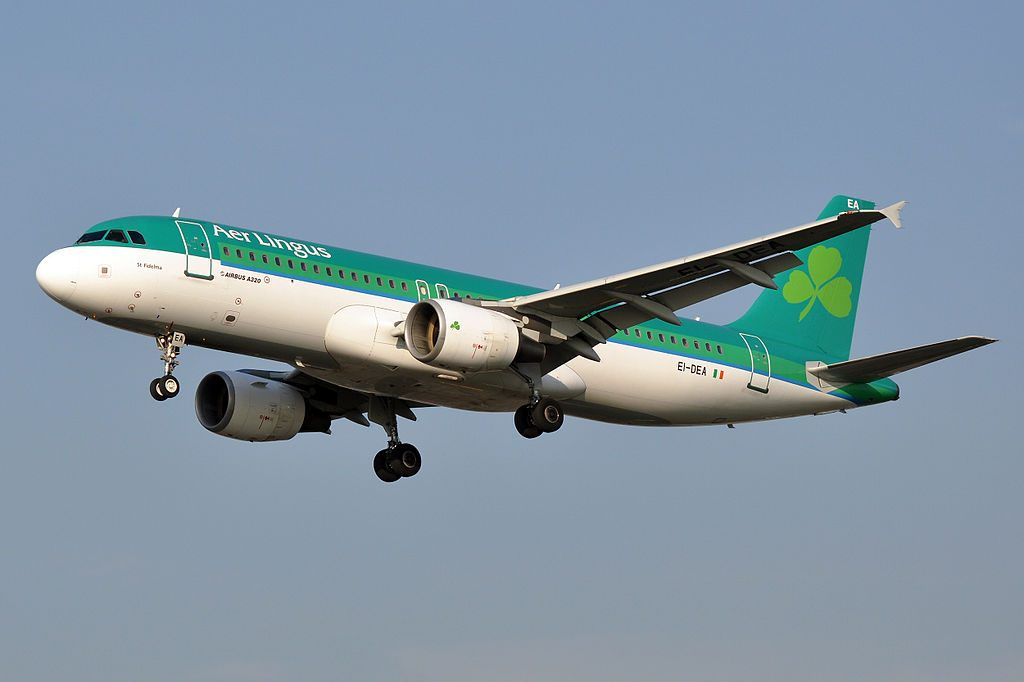 EI DEA Airbus A320 200 of Aer Lingus St Fidelma Fiedeilme at London Heathrow Airport
