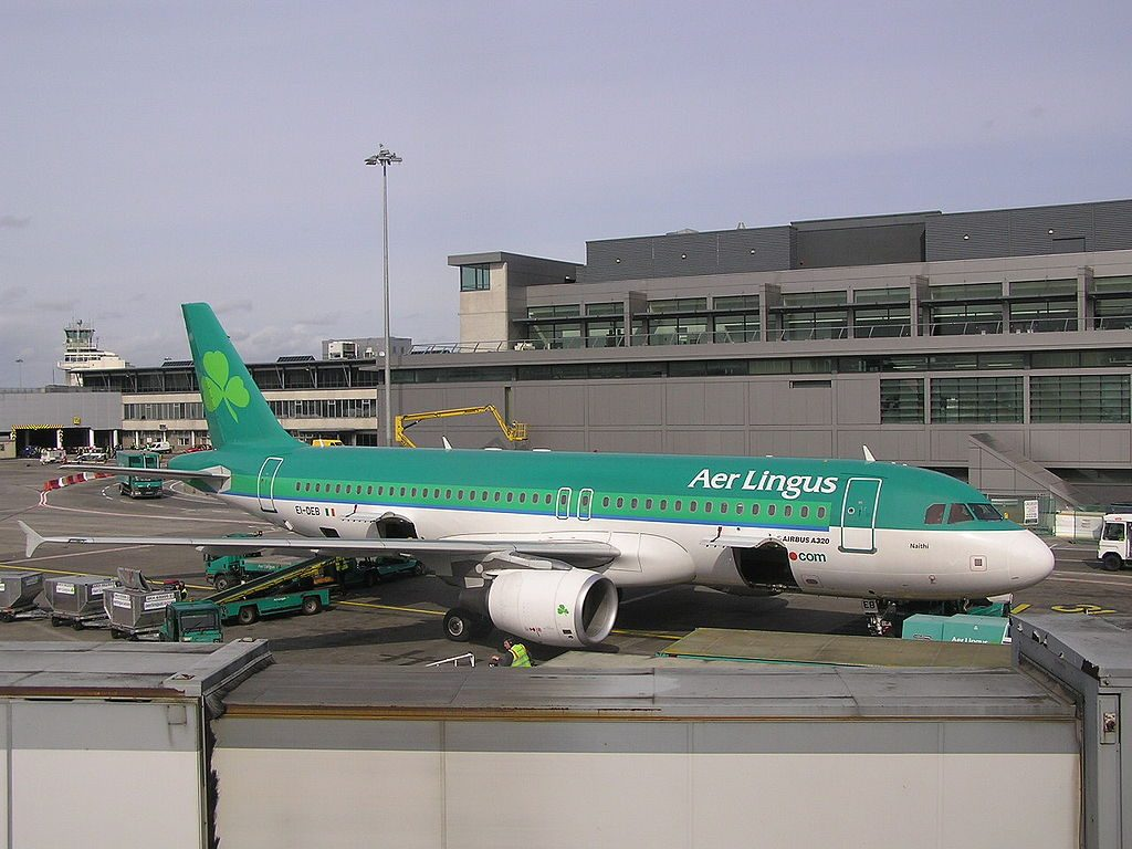 EI DEB Airbus A320 200 of Aer Lingus St Nathy at Dublin Airport