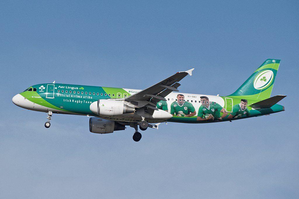 EI DEI Airbus A320 200 AerLingus Irish Rugby Team cs St Cornelius Conchúr