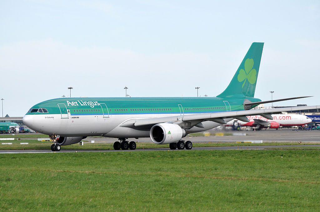 EI DUO Airbus A330 200 of Aer Lingus St Columba Colum at Dublin Airport