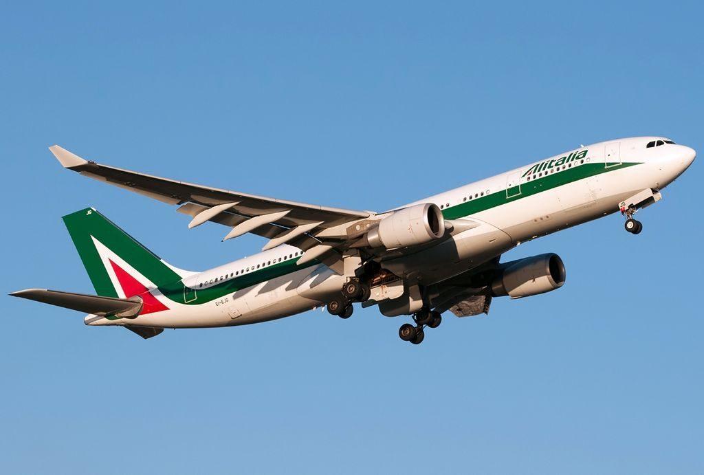 EI EJG Airbus A330 202 Alitalia Raffaello Sanzio departing Roma Leonardo da Vinci Fiumicino LIRF Italy