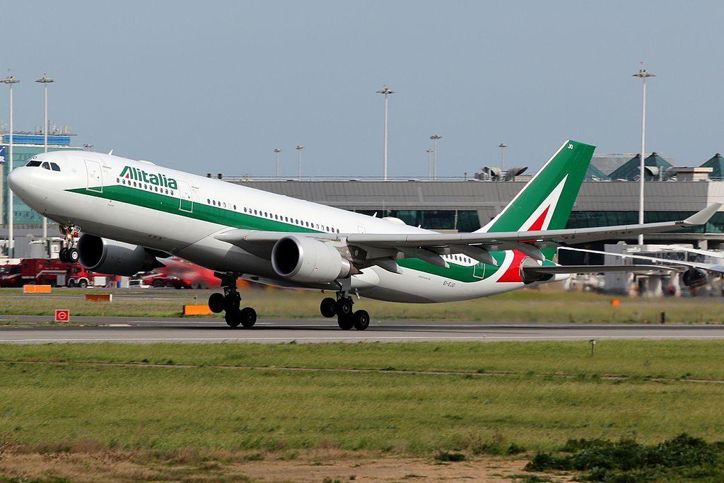 EI EJO Airbus A330 202 Alitalia Tiziano at Rome Fiumicino Airport