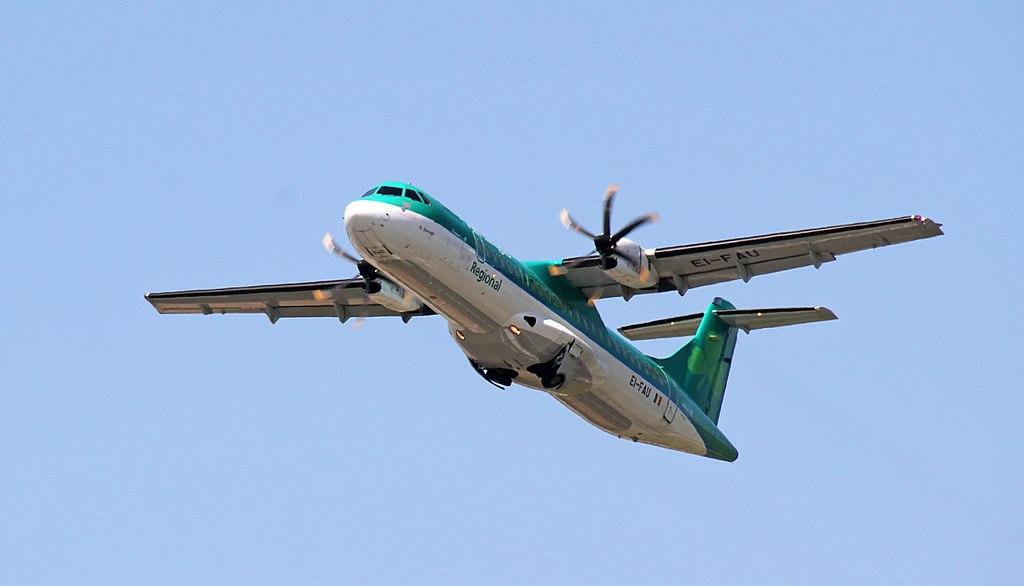 EI FAU Aer Lingus Regional Stobart Air ATR 72 600 St. Darragh Dáire at Birmingham Airport