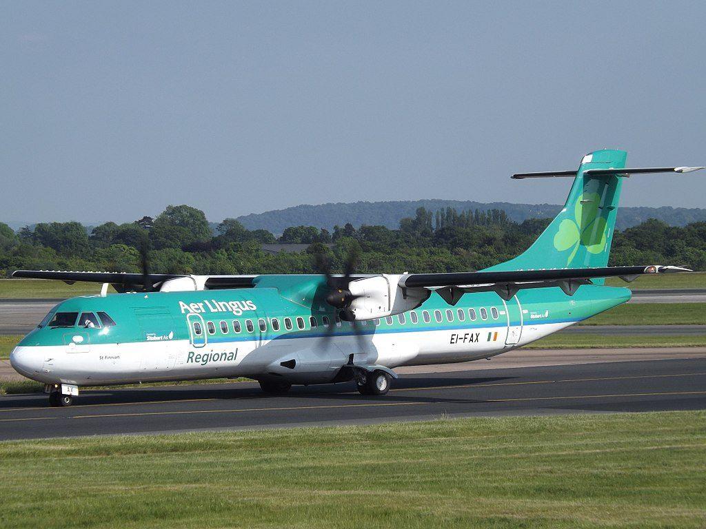 EI FAX ATR 72 600 Aer Lingus Regional Stobart Air St. Finnian Finnianat at Gloucestershire Airport