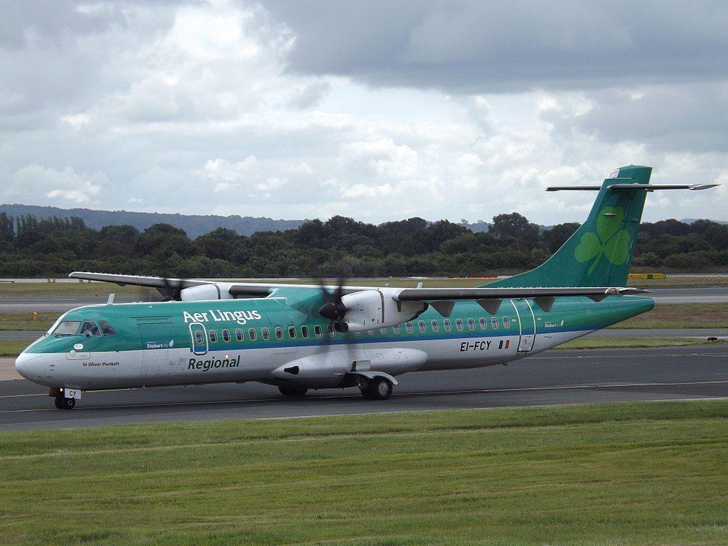 EI FCY ATR 72 600 Aer Lingus Regional Stobart Air St Oliver Plunkett Oilibhéar Pluincéid at Manchester Airport
