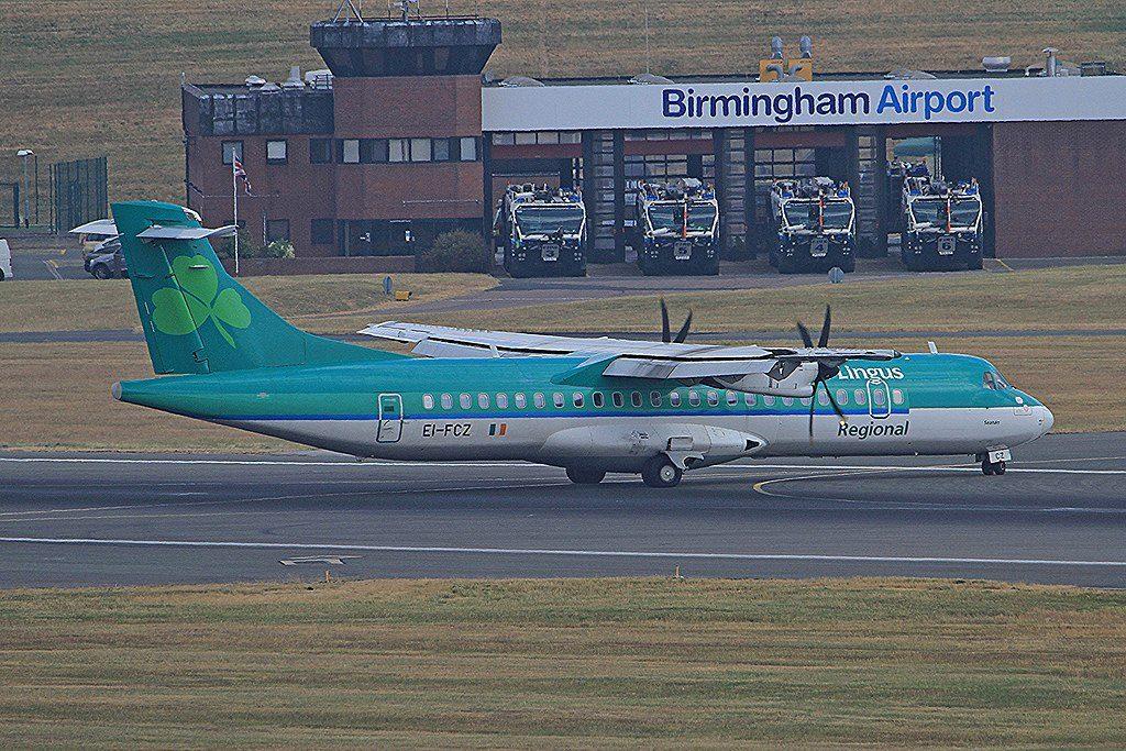 EI FCZ ATR72 600 Aer Lingus Regional Stobart Air St Senan Seanán at Birmingham Airport BHX