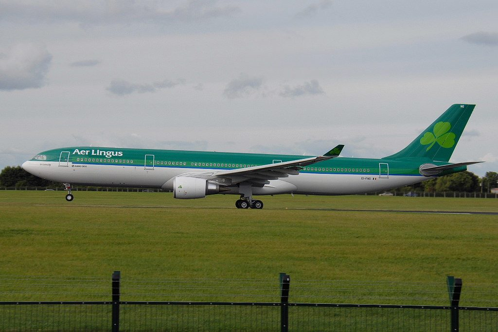 EI FNG Airbus A330 302 Aer Lingus St. Colmcille at Dublin Airport