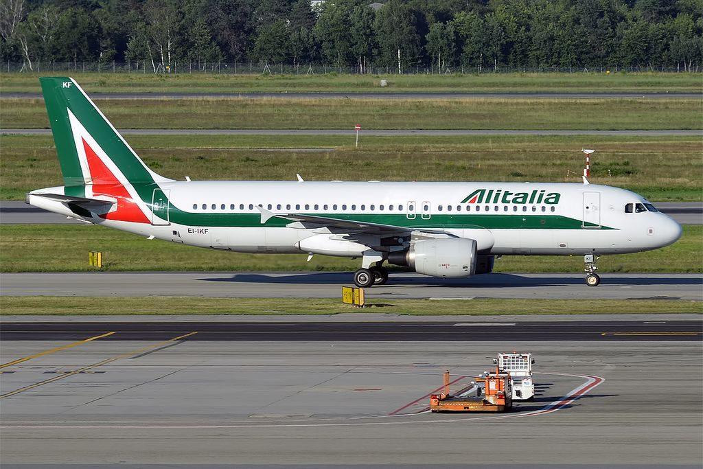 EI IKF Airbus A320 200 of Alitalia Grecale at Milan Malpensa Airport