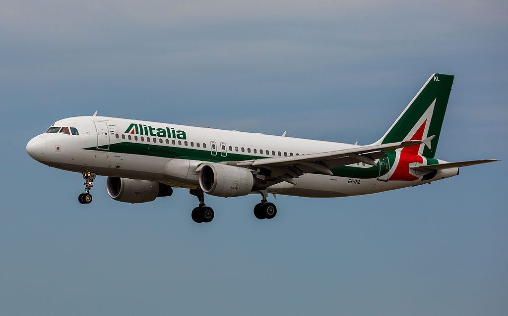 EI IKL Airbus A320 200 of Alitalia Libeccio at Toulouse Blagnac International Airport