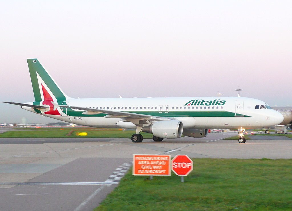 EI IKU Airbus A320 200 of Alitalia Fryderyk CHOPIN at London Heathrow Airport