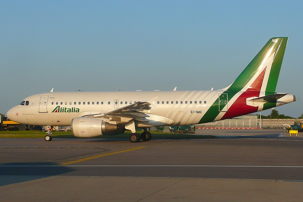 EI IMG Airbus A319 100 of Alitalia Isola di Pantelleria at London Heathrow Airport