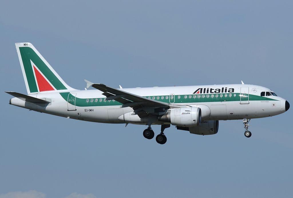 EI IMH Airbus A319 112 Alitalia Isole di Ventotene at Roma Leonardo da Vinci Fiumicino