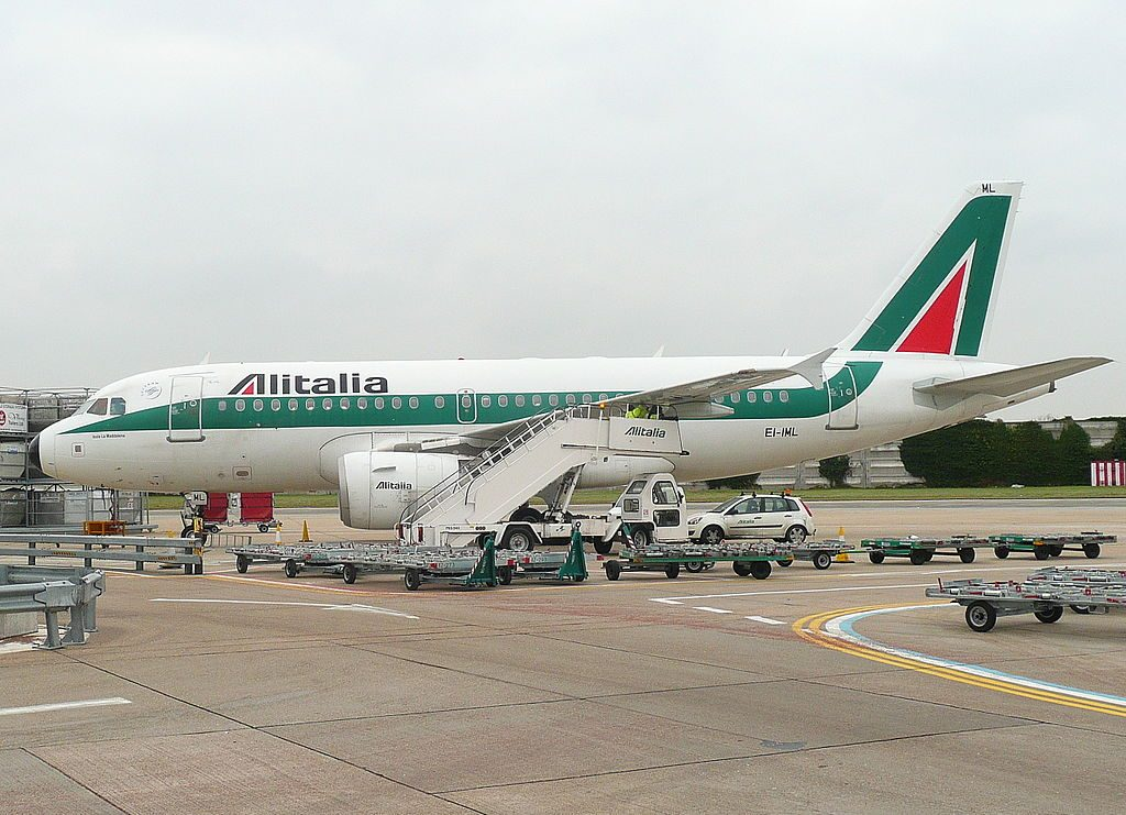 EI IML Airbus A319 100 Alitalia Isola La Maddalena at London Heathrow Airport