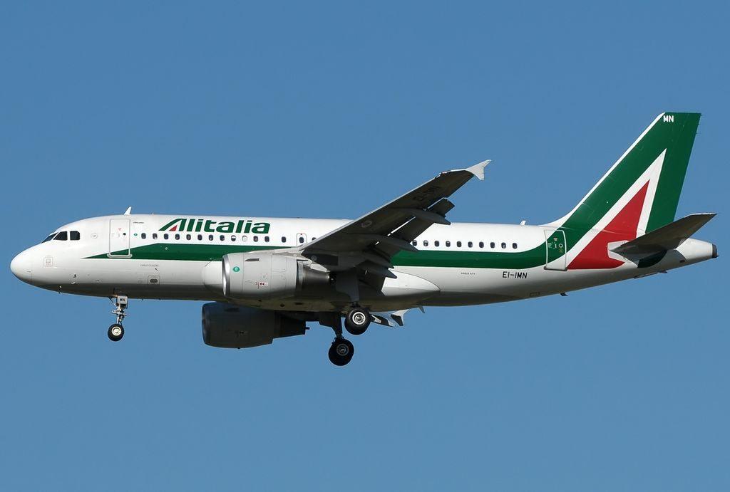 EI IMN Airbus A319 111 Alitalia Carlo Collodi at Fiumicino Airport