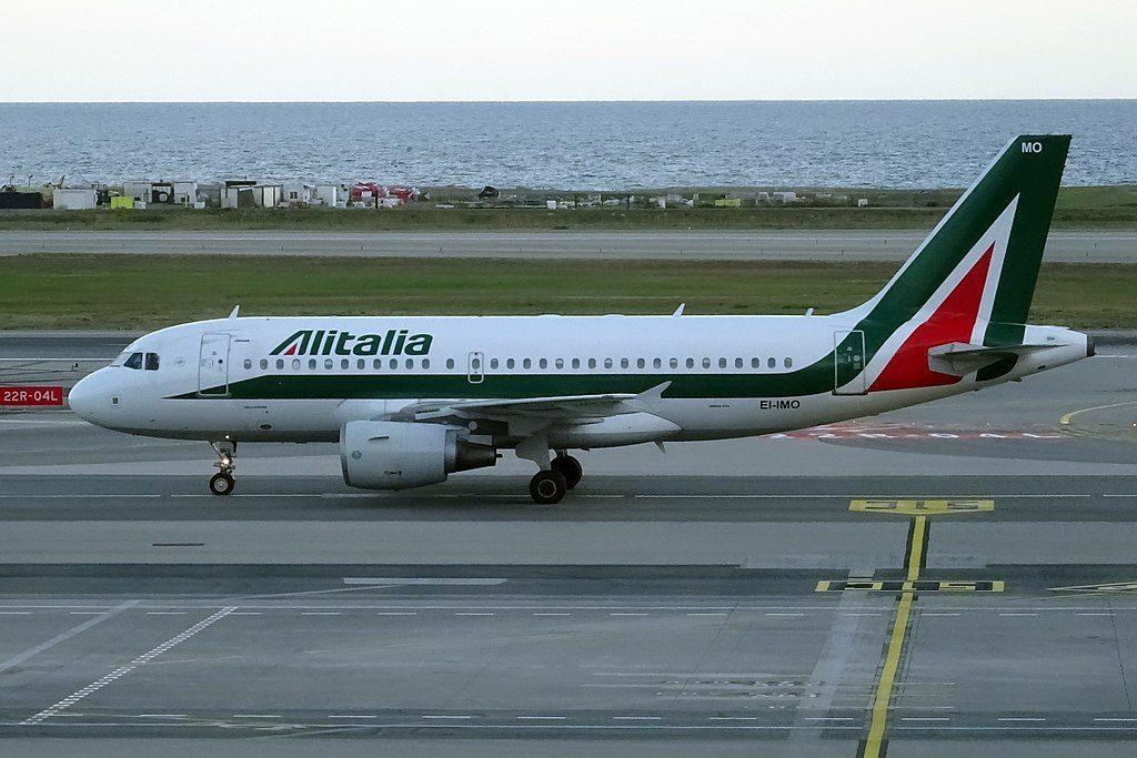 EI IMO Airbus A319 100 of Alitalia Isola d'Ischia at Nice Côte dAzur Airport