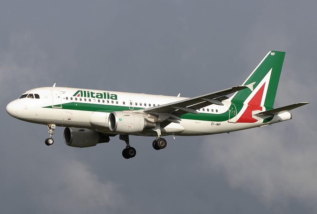 EI IMP Airbus A319 111 Alitalia Italo Svevo at Fiumicino Airport