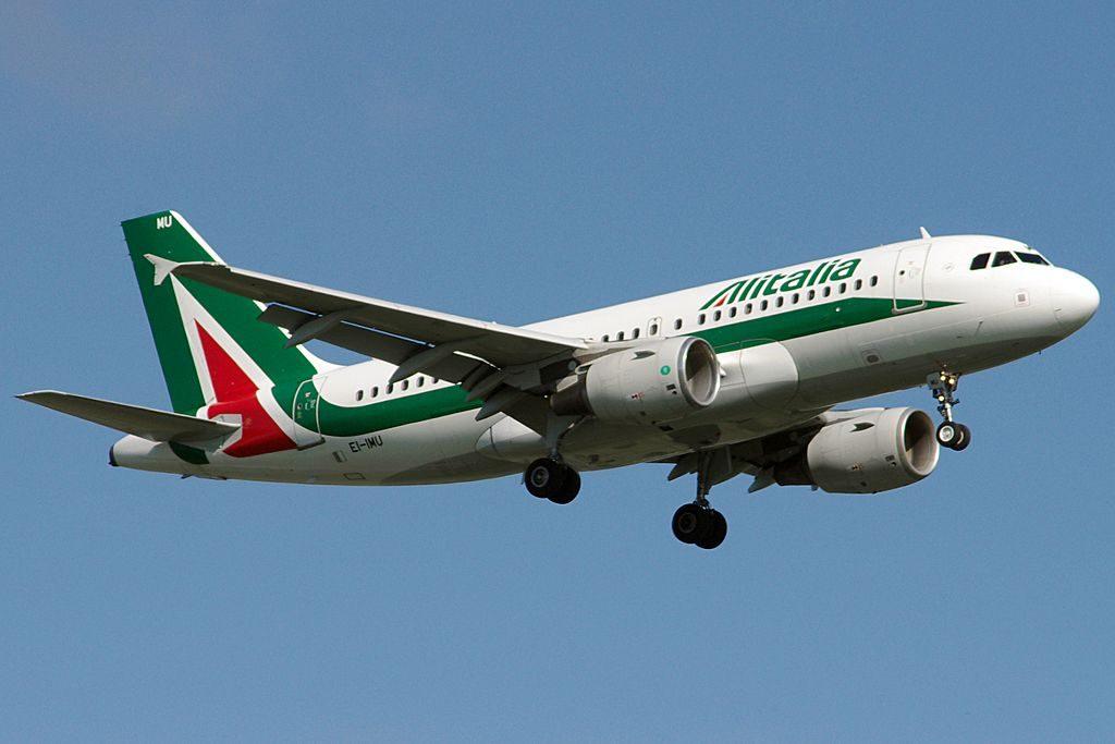 EI IMU Airbus A319 100 of Alitalia Pietro Verri at Bilbao Airport