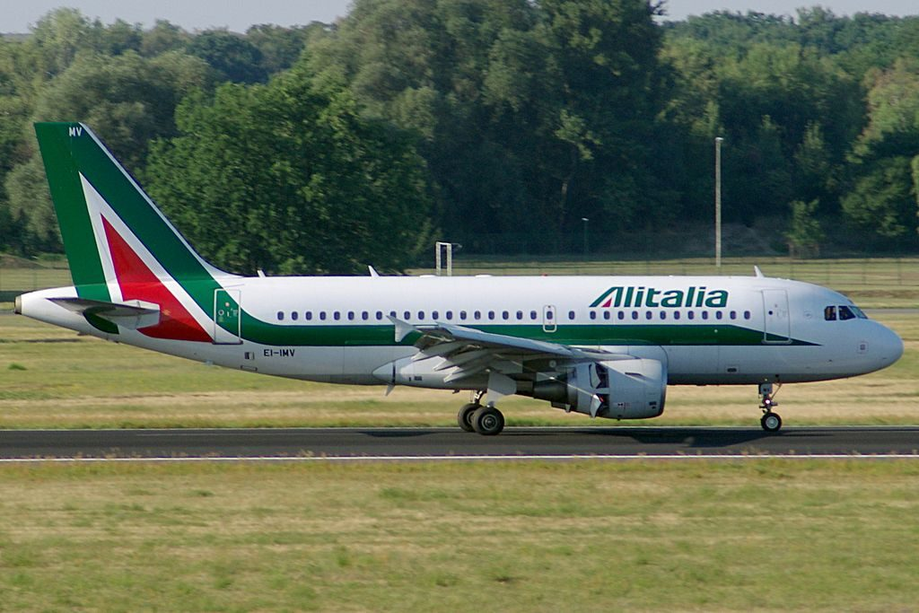 EI IMV Airbus A319 100 of Alitalia Filippo Tommaso Marinetti at Berlin Tegel Airport